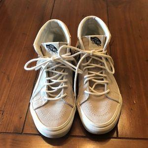 Vans gray suede fringe high top sneakers sz 5